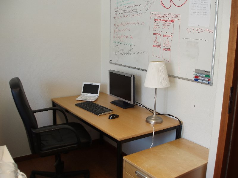 Praktikantens skrivbord