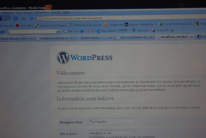 Installera WordPress